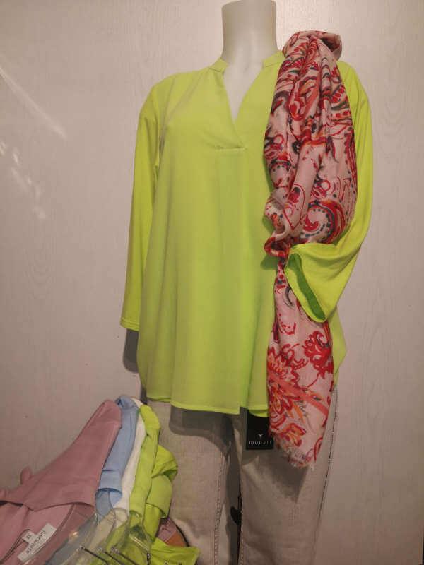 Just White Blusenshirt-Tunika Viscose-Elasthan Größe 38 bis 48 € 69,99